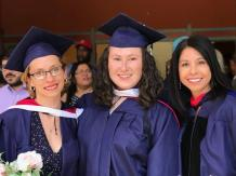 Left to right: My colleague and friend Emily Ellis, myself, and my master's committee chair Celeste González de Bustamante.
