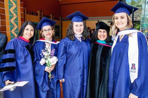 Left to right: Celeste González de Bustamante, Emily Ellis, Natalia V. Navarro, Jeannine Relly, Alyssa Hill. Fox Theater, May 11, 2018