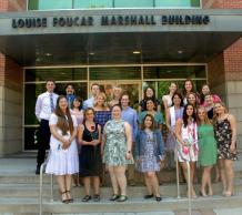 Graduating students, UA School of Journalism 2018