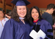 My master's committee chair Celeste González de Bustamante and I